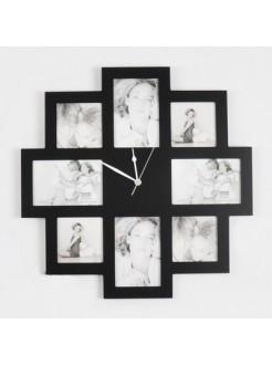 Часы с фоторамками Семья