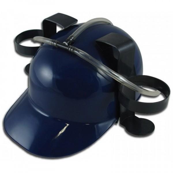 Каска пивная синяя