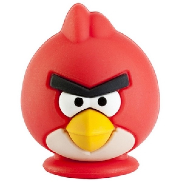 Флешка брелок Красная птичка 8гб