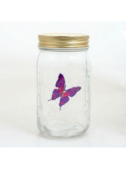 Электронная бабочка в банке Пурпурная