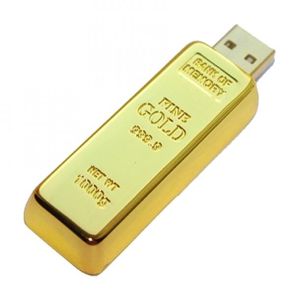 Флешка золотой слиток 8 гб