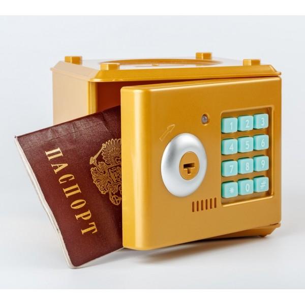 Копилка мини-сейф с кодом