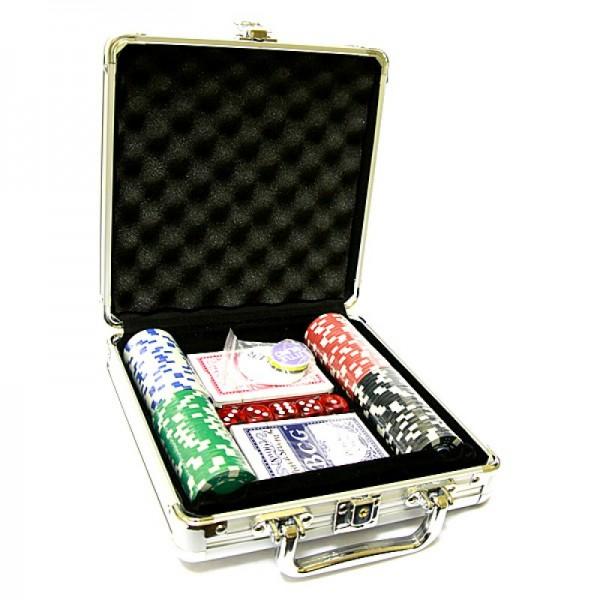 Покерный набор 100 фишек с номиналом