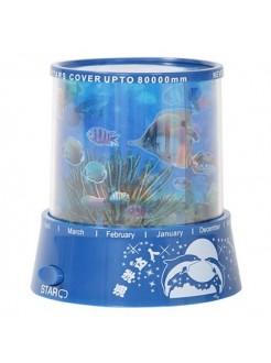 Ночник проектор Океан с рыбками