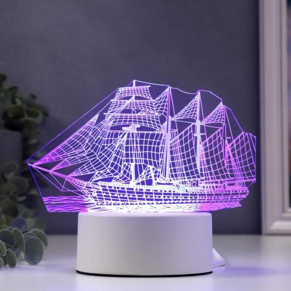 3D светильник Корабль