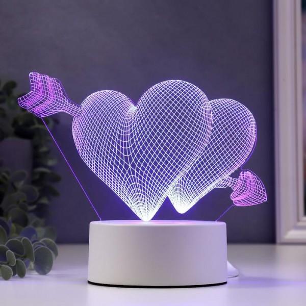3D светильник Влюбленные сердца