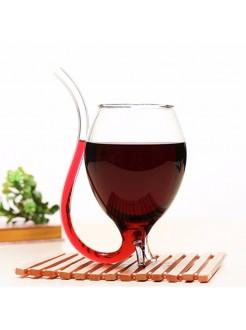 Винный бокал с трубочкой