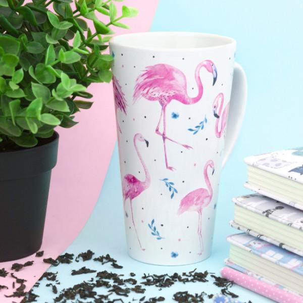 Кружка латте Фламинго