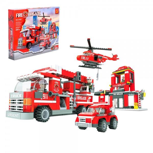 Конструктор Пожарная станция (697 деталей)
