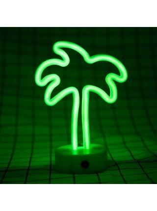Неоновый светильник Пальма