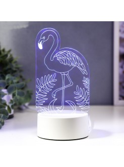 3D светильник Фламинго