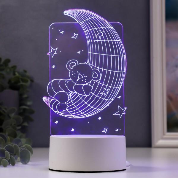 3D светильник Спящий мишка