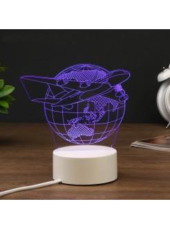 3D светильник Самолёт