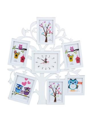 Часы с фоторамками Древо