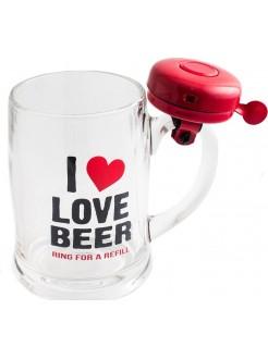 Кружка пивная I love beer