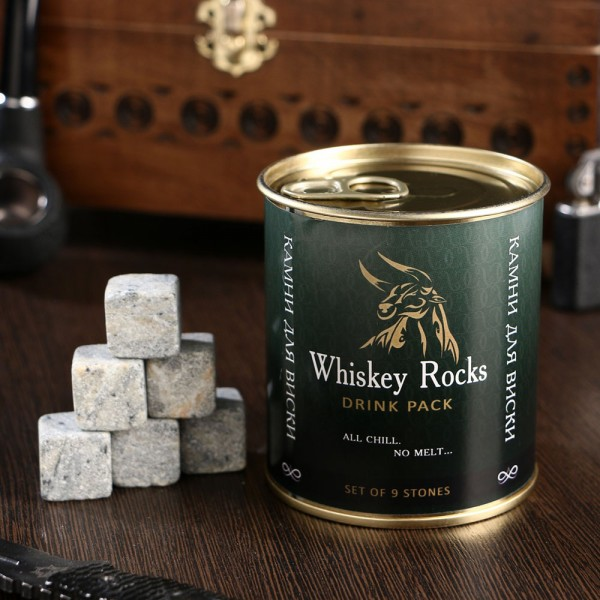 Камни для виски Whiskey rocks 9 шт. в банке