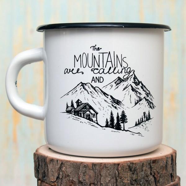 Кружка эмалированная Mountains