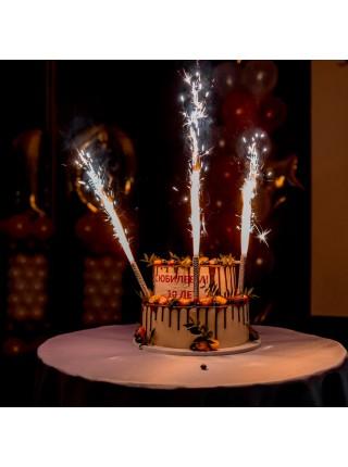 Фейерверк для торта Фонтан 4 штуки