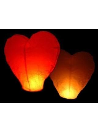 Небесный фонарик желаний Сердце