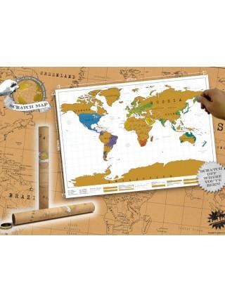 Скретч карта мира (english)