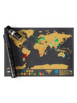 Скретч карта мира Black (english)
