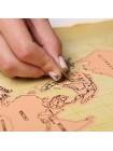Стиральная карта мира Ретро