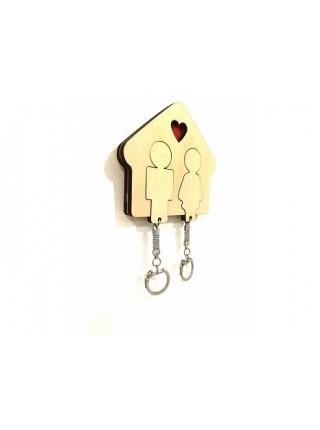 Ключница Любовь деревянная