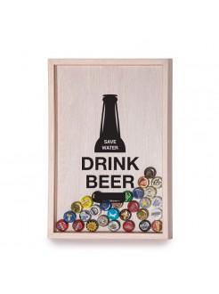 Копилка для пивных крышек Drink beer - save water