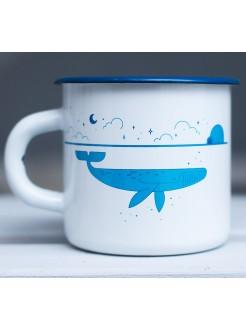 Кружка эмалированная Whale