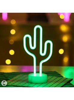 Неоновый светильник Кактус