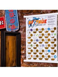 Плакат Be True - 30 вызовов себе