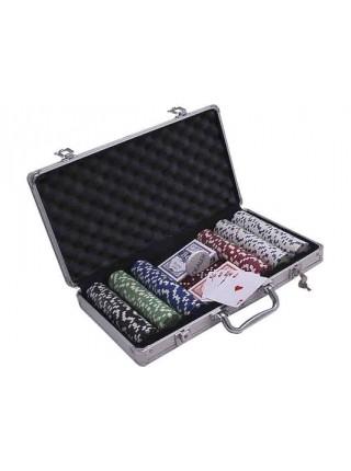 Покерный набор  300 фишек с номиналом