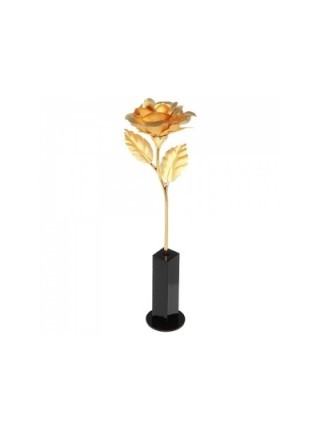 Роза золотая на подставке