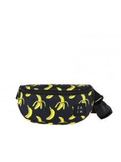 Сумка на пояс Бананы Black