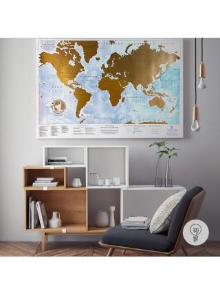 Стиральная карта мира Truemap Adventure