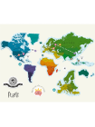 Магнитная скретч карта мира True Map Puzzle