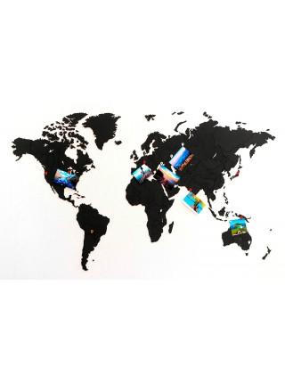Деревянная карта пазл True Puzzle Black 100x60