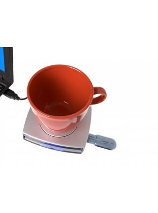 USB-хаб подогреватель с часами