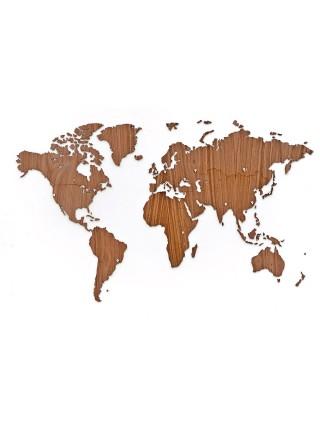 Деревянная карта мира на стену Wall Decoration Exclusive Nut 130х78