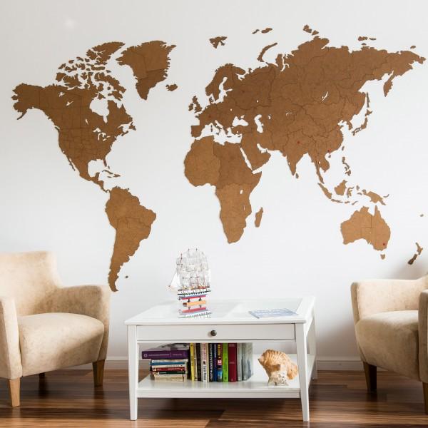 Wall Decoration 180х108 карта мира из дерева