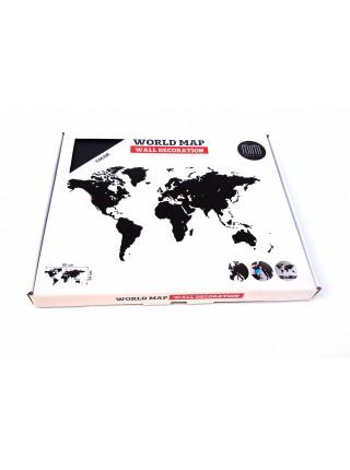 Декоративная карта мира Wall Decoration Black 90х54