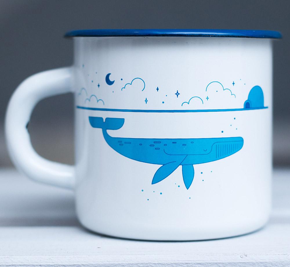 "Кружка эмалированная ""Whale"" от 650 руб"